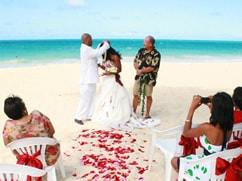Mid Day East Oahu Beach Wedding Package
