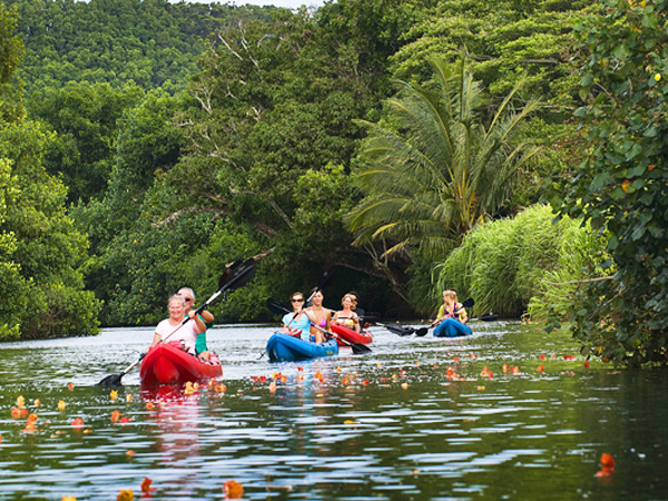Kayaking Adventure On The Wailua River W/Hike To Sacred Falls & Lunch