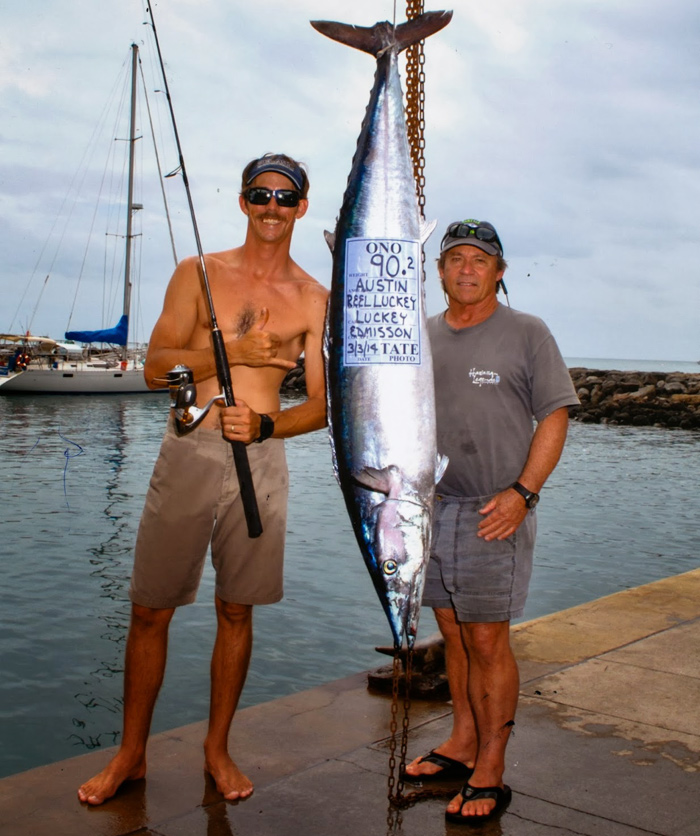 Luckey strike charters reel luckey deep sea fishing for Maui fishing supply