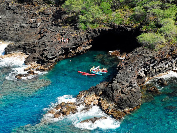 volcano helicopter tours big island with Keauhou Sea Cave Tour on BigIslandmap together with Atlantis Submarine Adventure Discovery Dive also Westin Resort Wailele besides Kauai Bi Plane Tour further 9 Awesome Fiery Hawaii Volcano Images.