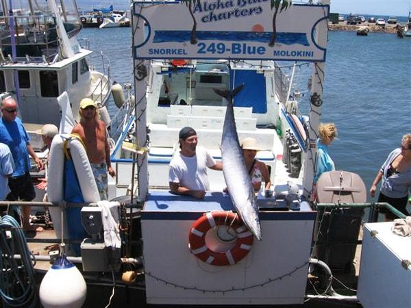 Aloha blue charters maui bottom fishing hawaii discount for Maui bottom fishing