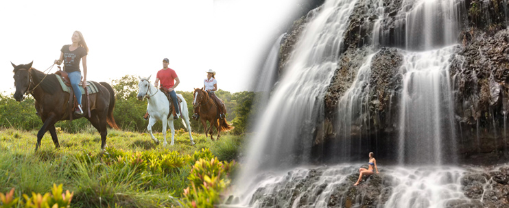 Product Waterfall Picnic 3 Hr Ride, Princeville Ranch