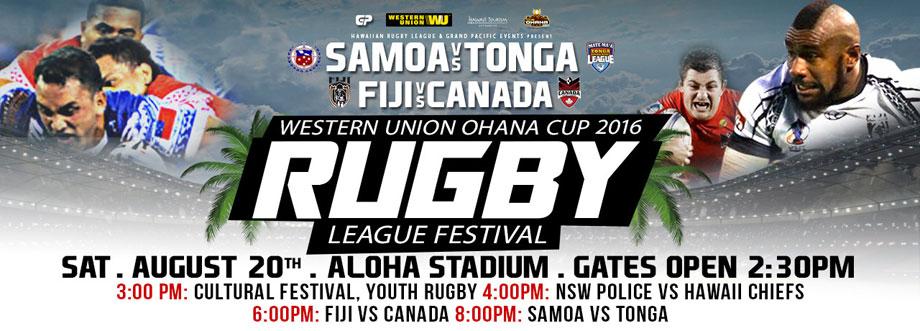 Western Union Ohana Cup 2016 Rugby League Festival - Hawaii Discount Events